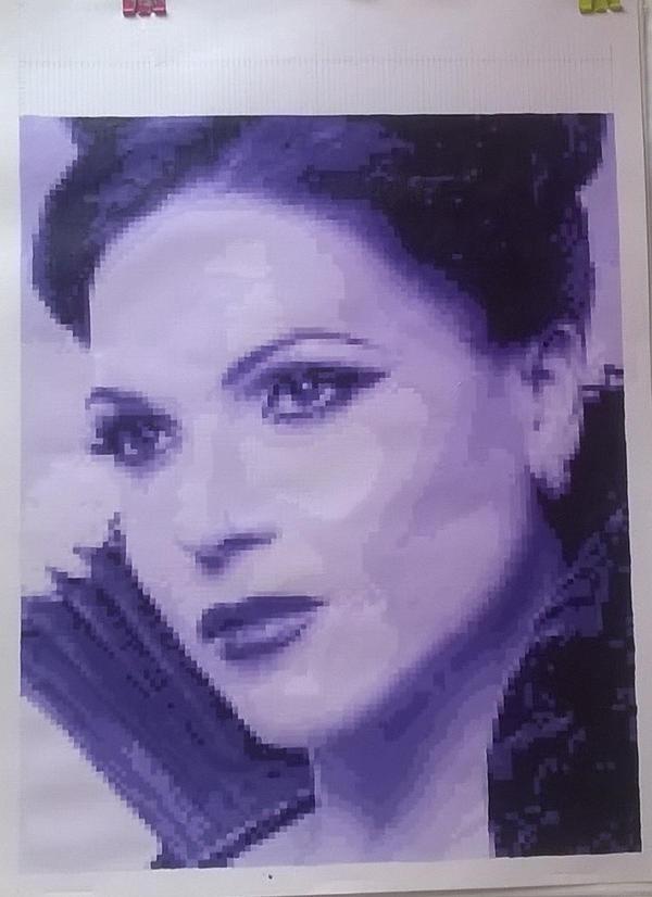 Lana Parrilla/ Regina Mills pixel painting by leb82