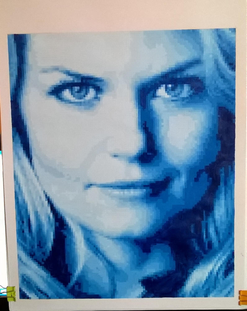 Jennifer Morrison pixel painting by leb82