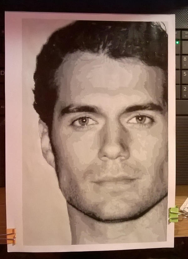 Henry Cavill pixel painting by leb82