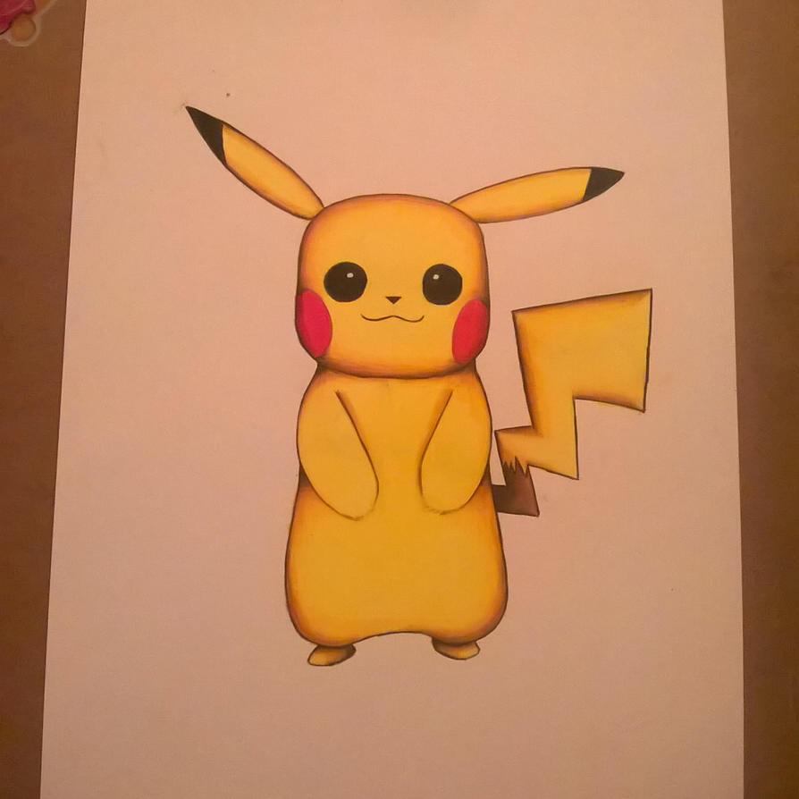 Pikachu Prismacolour drawing. by leb82