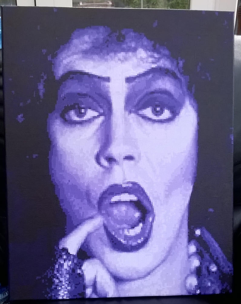 Tim Curry pixel painting by leb82