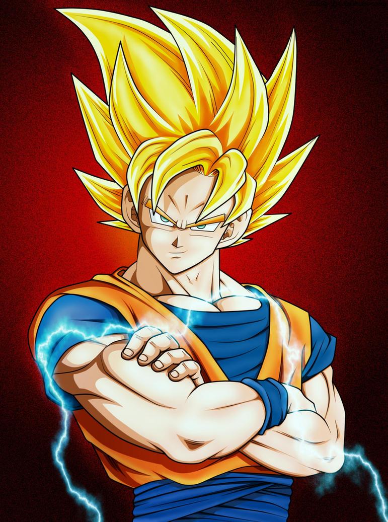 Goku Ss2 by Abe by mr-abe