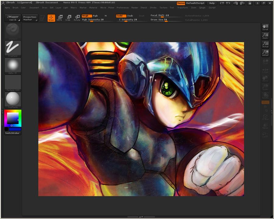 megaman 3D color technique by hagencalacin