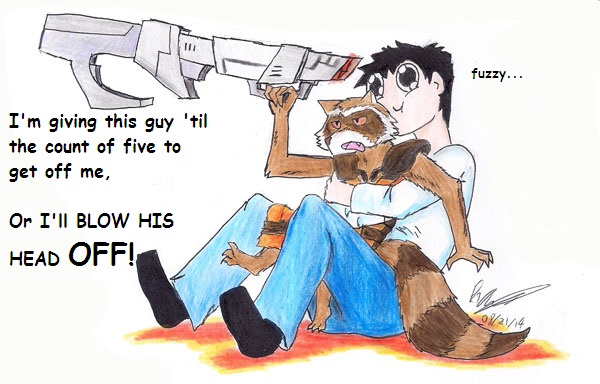 Star Lord And Rocket Raccoon By Timothygreenii On Deviantart: Admin Adventures: Rocket Raccoon By AnAdminNamedPaul On