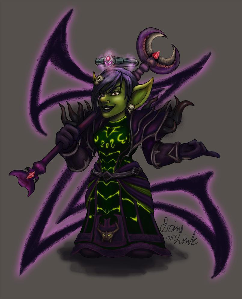 goblin warlock by themisselink on deviantart