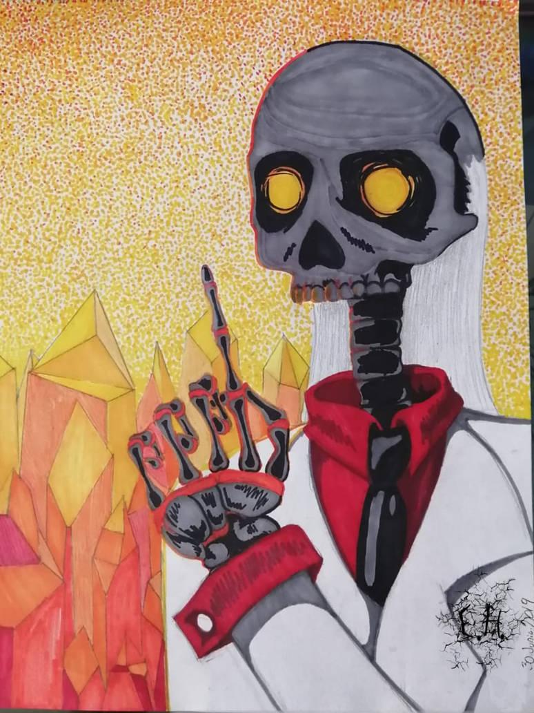 Infierno Surrealista de Cubismo con Puntillismo by erayololanime