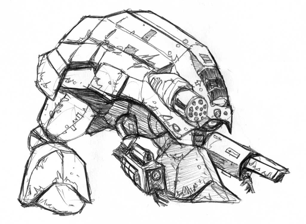 Robot Mech Tank Thing By Deathbstrd On DeviantArt