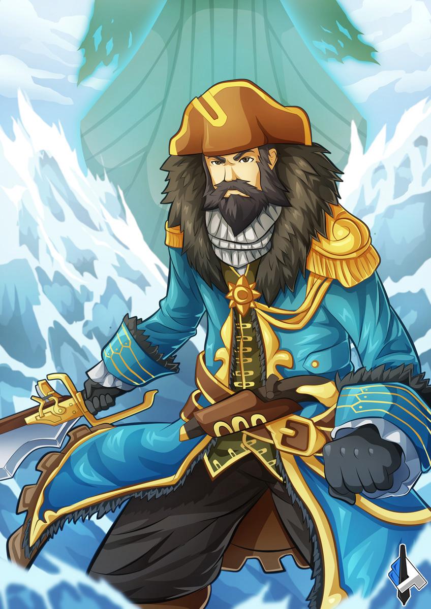 Admiral Kunkka by kaerulum on DeviantArt