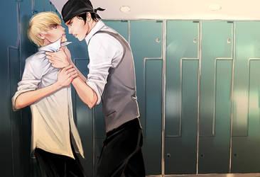 locker room by PaperJeansss