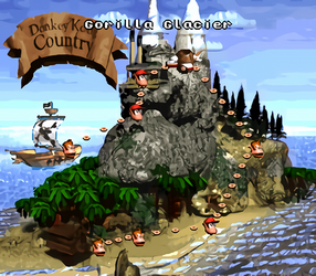 DKC World Map with Waifu2x by darren9999