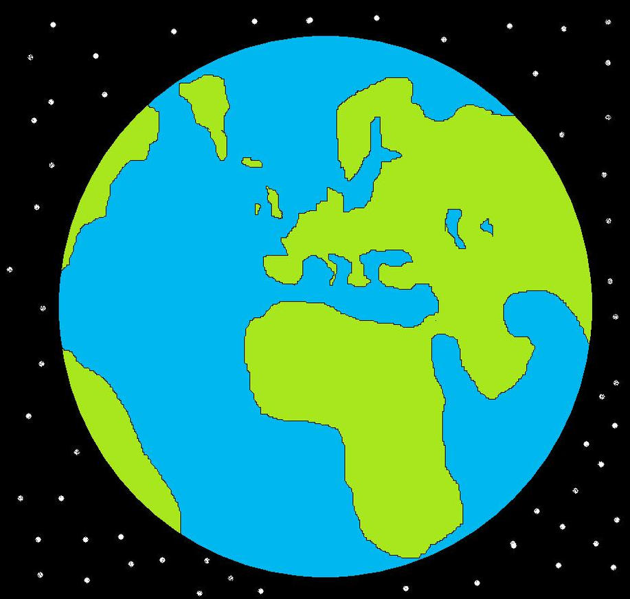 Planets clipart for kids green planet clip art image - My Drawing Of The Earth By Ssj2raditz On Deviantart