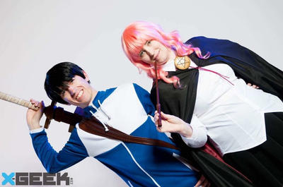 Saito and Louise from zero's familiar by BarbarianProps