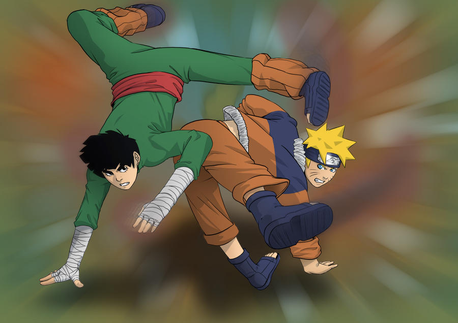 Speed Painting [Naruto vs Rock Lee]