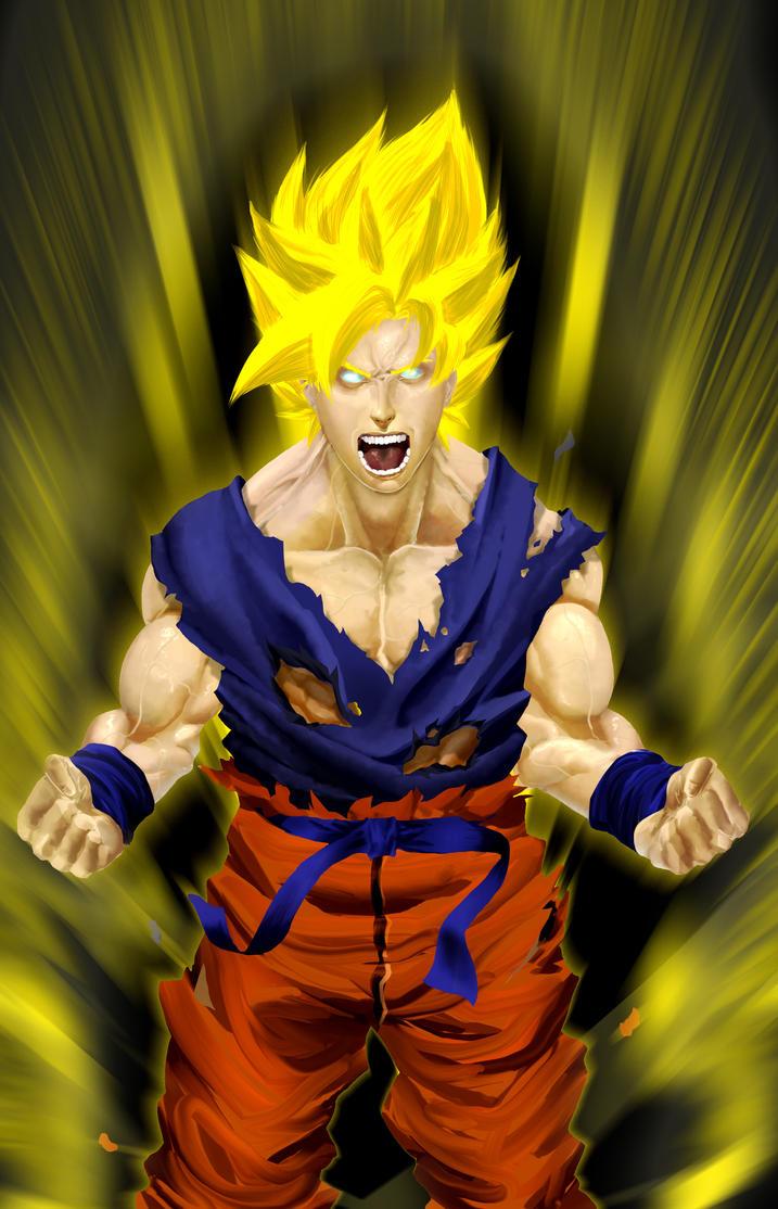 Goku goes ssj by francosj12