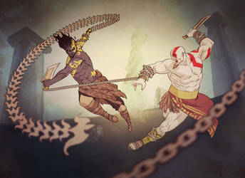 Prince of Persia vs God of War by francosj12