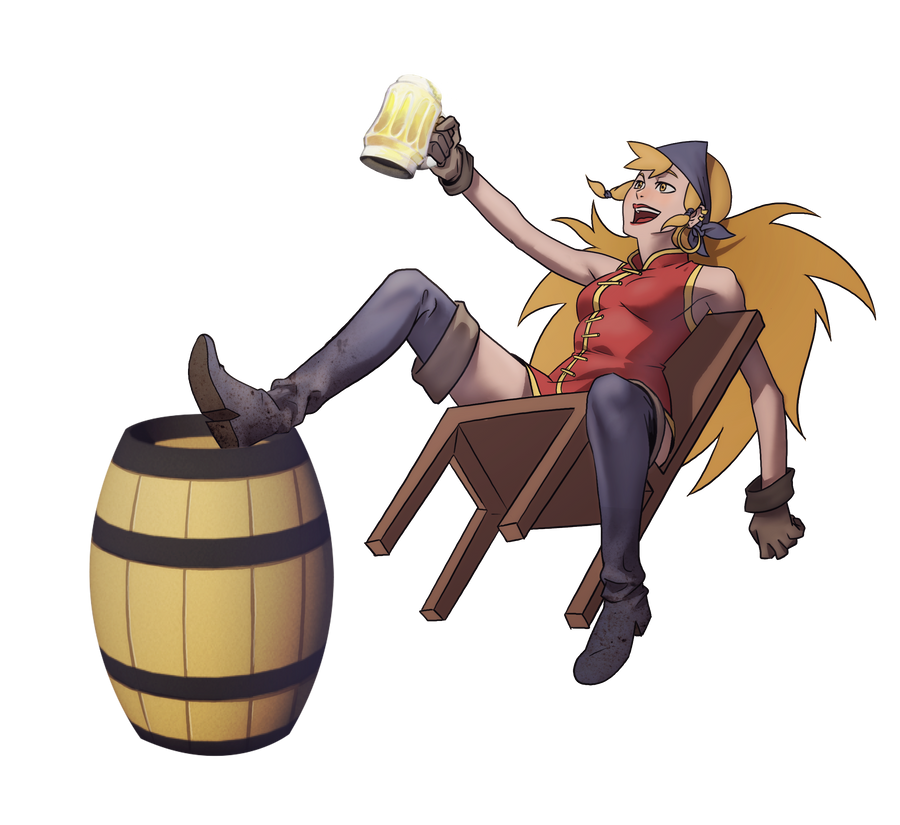 Drunk Pirate by francosj12