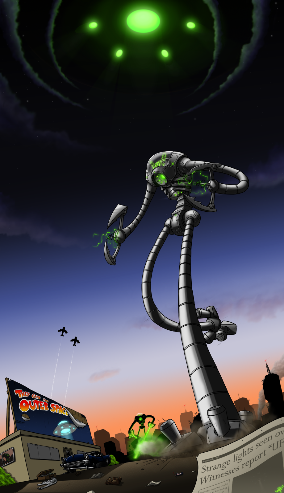 They came from outer space by luvythicus on deviantart for The thing that came from outer space