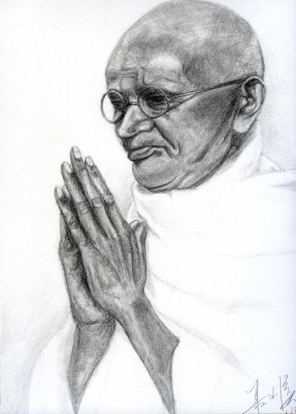 Mahatma Gandhi by RebexTrip
