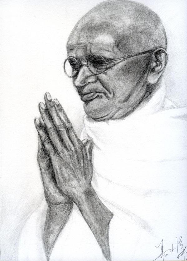 Mahatma Gandhi by RebexTrip