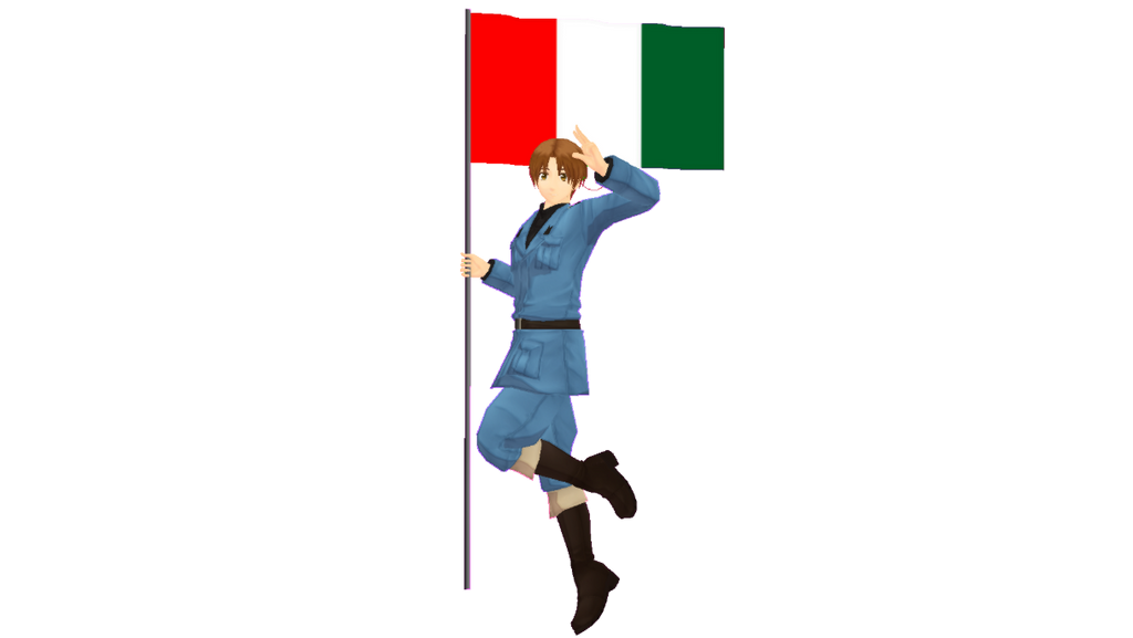 MMD Italy Model DL (NOT MINE) by chickid11