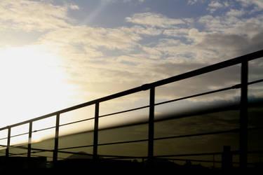 Farm Fence Sunrise by fantasy1girl
