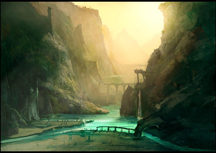 between_the_rocks_of_ctolah_ii_by_gizmod