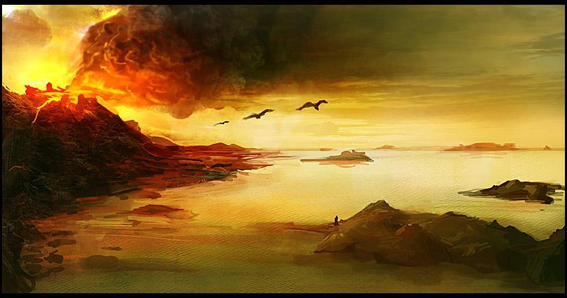 Volcano Islands by gizmodus