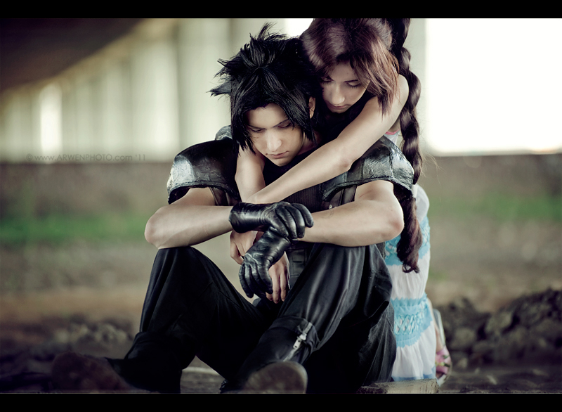 Zack and Aerith: Don't cry by Narga-Lifestream on DeviantArt