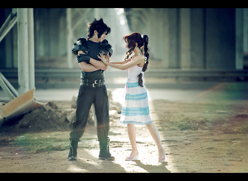 Oh, you - Zack and Aerith by Narga-Lifestream
