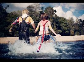 Tidus and Yuna - Towards new story by Narga-Lifestream