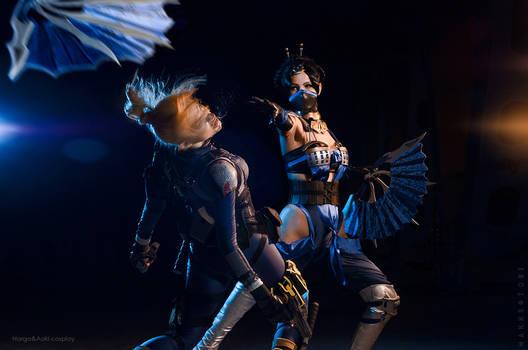 Mortal Kombat X - Cassie Cage vs Kitana