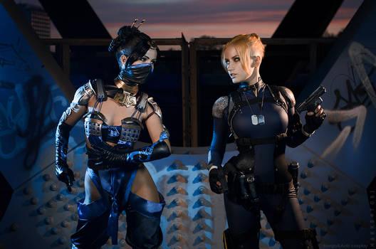 Mortal Kombat X - Kitana vs Cassie Cage
