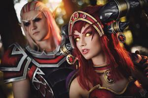 Alexstrasza and Krasus - Red dragons by Narga-Lifestream
