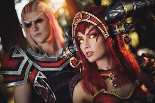 Alexstrasza and Krasus - Red dragons