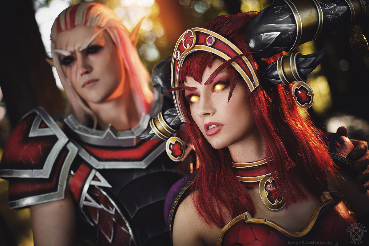 Alexstrasza and Krasus - Red dragons