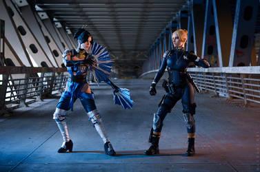 Kitana vs Cassie Cage - Mortal Kombat X by Narga-Lifestream