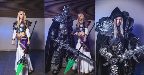 Arthas and Jaina cosplay by Aoki and Narga