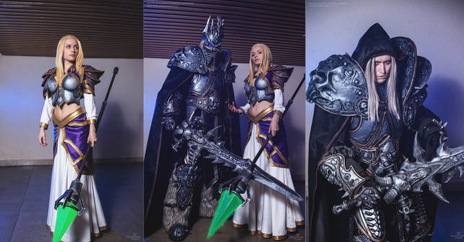Arthas and Jaina cosplay by Aoki and Narga by Narga-Lifestream