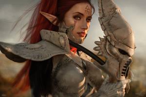 Mask of Banshee - Warhammer 40k Dawn of War III by Narga-Lifestream