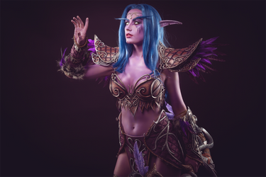 Tyrande Whisperwind - Night elf cosplay by Narga-Lifestream