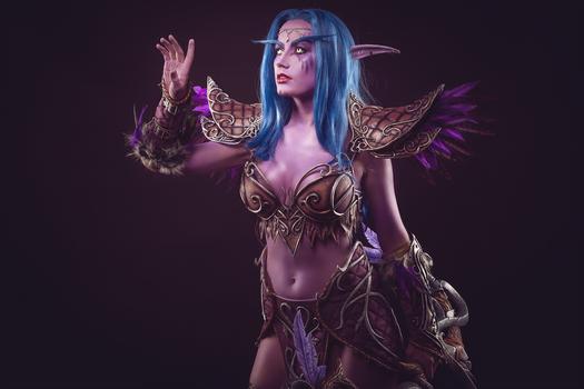Tyrande Whisperwind - Night elf cosplay