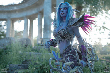 Tyrande - Temple of Elune by Narga-Lifestream