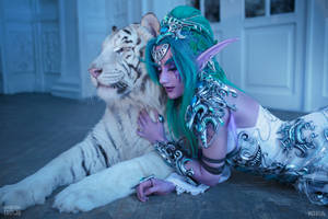 Tyrande and Ash'Alah V by Narga-Lifestream
