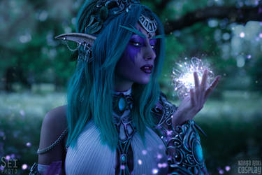 Tyrande and the Wisp by Narga-Lifestream