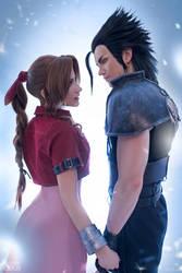Aerith and Zack - Final Fantasy VII
