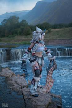 Kirin set with White Fatalis Dual Sword - MH
