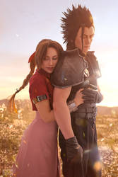 Aerith and Zack - Final Fantasy VII cosplay