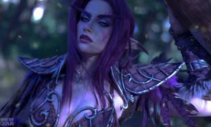 Night elf Druid portrait