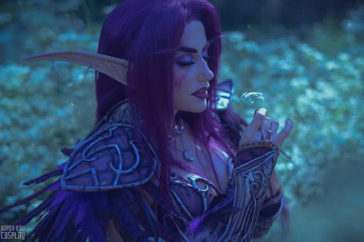 Night elf Druid - Enjoying nature