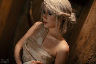 Skellige sauna - Ciri - The Witcher 3